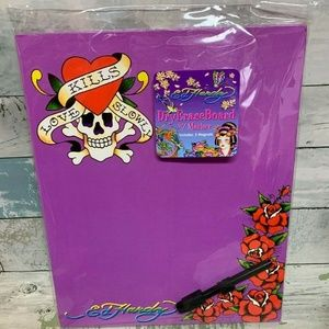 Ed Hardy Dry Erase Board w Marker and 2 Magnets